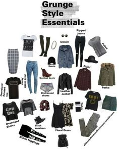 """allthefashionyoulleverneed: """"Grunge Style Essentials Denim: Definite staple piece whether it be jeans, vests/jacket or shorts. Preferably acid wash, dark,ripped,or worn out. Mode Grunge Hipster, Style Hipster, Style Grunge, Grunge Goth, Grunge Tumblr, Nu Goth, Grunge Winter Outfits, Soft Grunge Outfits, Grunge Party Outfit"""