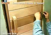Setting the self-closing hinge for the sauna door