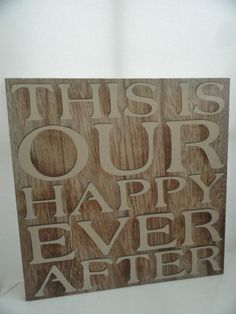NEXT THIS IS OUR HAPPY EVER AFTER WORDS SCRIPT  WALL HANGING CANVAS PICTURE