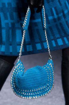 Laura Biagiotti F/W '13 | crochet bag with chain detail