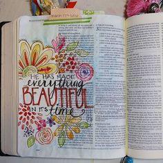 Bible Journal Ideas - Ecclesiastes 3