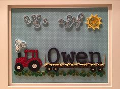 Quilled tractor up close