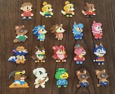 Animal Crossing Mario Maker sprites by Pika-Robo - Sprite - Ideas of Sprite Perler Bead Designs, Perler Bead Templates, Hama Beads Design, Diy Perler Beads, Pearler Bead Patterns, Perler Bead Art, Perler Patterns, Pearler Beads, Hama Beads Animals