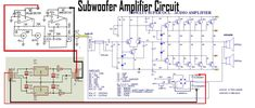This is a Subwoofer power amplifier circuit, by using Power SOCL combined with Subwoofer Filter This circuit is very good performance for Subwoofer Speaker, if you want to build this amplifier, visit here. Best Subwoofer, Subwoofer Box Design, Subwoofer Speaker, Diy Amplifier, Class D Amplifier, Battery Charger Circuit, Dayton Audio, Electrical Projects, Circuit Design