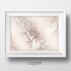 Washington DC Street Map Modern Minimalist Art Print Office or Home Wall Decor