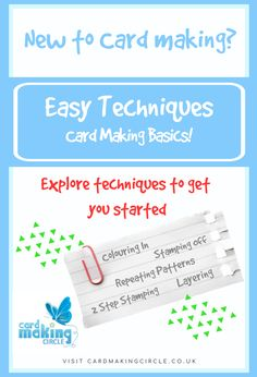 New to Card making? Find out about card making techniques for beginners to get you started. Card Making Ideas For Beginners, Card Making Techniques, Card Making Inspiration, Stencilling Techniques, Stamp Making, Making Cards, Create Your Own Card, Handmade Card Making, Images And Words