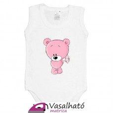 Pink maci ruhára vasalható matrica #vasalhatómatrica #vasalhatómatricák #vasalható #matrica #gyerek #vasalósmatrica Onesies, Baby, Clothes, Fashion, Outfits, Moda, Clothing, Fashion Styles, Clothing Apparel