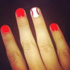 LOVE these baseball nails!!