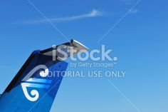 Air New Zealand Aeroplane Tail and Logo Royalty Free Stock Photo
