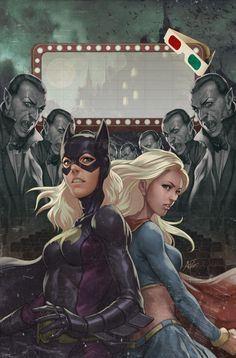 Batgirl and Supergirl at the movies...http://historyguy.com/comicshistorynews/category/supergirl
