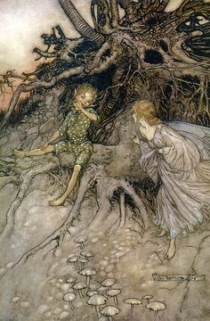 I am that merry wanderer of the night - A Midsummer-Night's Dream by William Shakespeare, 1908