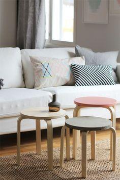 Transformar muebles Ikea ideas para tunear el taburete Frosta 20