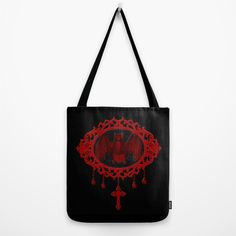 Vampyre Cameo Bat (Jewel Of Blood Collection) Tote Bag by Framed In Blood Art | Society6