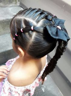 Two Fun and Beautiful Braided Hairstyles – HerHairdos Ballet Hairstyles, Lil Girl Hairstyles, Easy Toddler Hairstyles, Childrens Hairstyles, Braided Hairstyles, Hair Due, Her Hair, Jasmine Hair, Girl Hair Dos