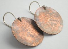 Rustic Copper Earrings by BalsamrootRanch on Etsy, $34.00
