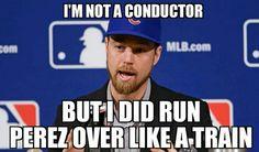 Like a train! Go Cubs Go! Chicago Cubs! Zobrist Baseball Memes, Chicago Cubs Baseball, Chicago Bears, World Series 2016, Chicago Cubs World Series, Cubs Win, Go Cubs Go, Cheer Mom