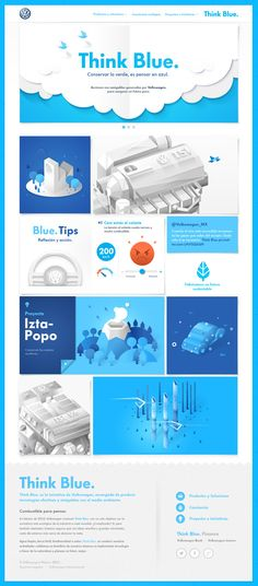Volkswagen - Think Blue. Website on Behance