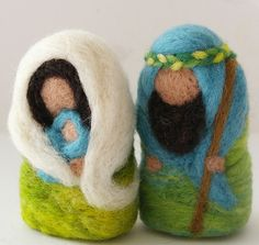 needlefelted Holy Family