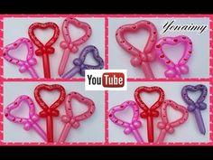 CORAZONES ROMANTICOS CON UN SOLO GLOBO 260 - YouTube Balloon Arch, Balloon Garland, Balloon Decorations, Balloon Ideas, Easy Balloon Animals, Sculpture Ballon, Balloon Crafts, Tutorial, Origami