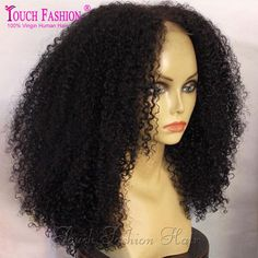 8A Mongolian Kinky Curly Lace Front Human Hair Wigs Glueless Afro Kinky Curly Wig For Black Women Kinky Curly Full Lace Wig