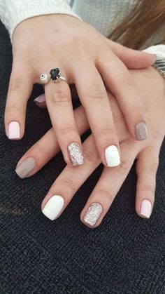 Cute Acrylic Nails, Acrylic Nail Designs, Cute Nails, Smart Nails, Shellac Nail Designs, Cute Nail Colors, Cute Short Nails, Acrylic Art, Stylish Nails