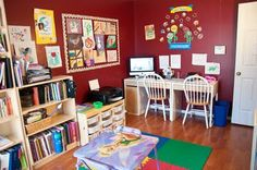 Stefani's school room at Life with My Giggle Girls. TOS Crew blogger.