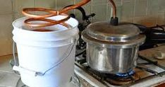 Homemade pressure cooker essential oil distiller - I put this one in for the genius to make your own oils, I truly wish I could try this one but don't think I have the brains. Healing Herbs, Medicinal Herbs, Natural Healing, Herbal Remedies, Home Remedies, Natural Remedies, Making Essential Oils, Pure Essential Oils, Essential Oil Distiller