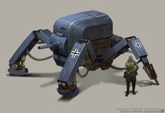 """We can't think of a reason why Dieselpunk doesn't quite get the glory it deserves. The concept art of BjornHurri just convinces us more. These Dieselpunk concepts """"aesthetics of the interwar period between the end of the World War I and the beginning of World War II."""" Advertisement Via GeekTyrant"""
