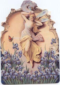 Angel and Iris birthday card