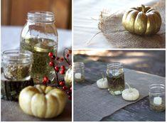 Create. Share. Repeat!: Fall Wedding Series #3 - Pumpkins, Burlap and Mason Jars