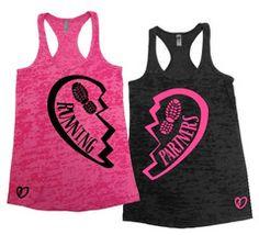 Sisterrrr what cha think huh huh? Running Tanks, Running Workouts, Running Gear, Running Women, Running Inspiration, Fitness Inspiration, Workout Wear, Workout Shirts, K Tape