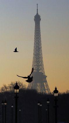 Early Morning in Paris -- by Vladimir Bazan...