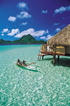 tahiti bora bora...... Cory I want to live here. Goose and Roosters Brewery in Tahiti? Bora Bora Vacation Cost, Bora Bora Vacation Packages, Dream Vacations, Bora Bora Honeymoon, Vacation Trips, Vacation Places, Vacation Spots, Places To Travel, Honeymoon Spots