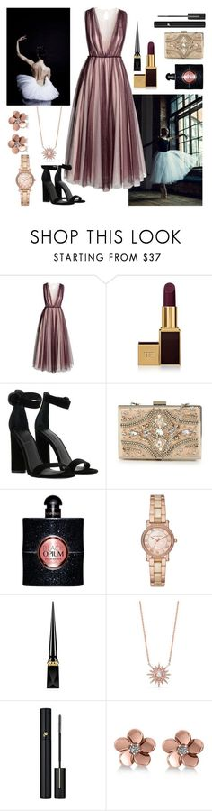 """Untitled #567"" by dolrebeca ❤ liked on Polyvore featuring BYRON, H&M, Tom Ford, Kendall + Kylie, Forever Unique, Yves Saint Laurent, Michael Kors, Christian Louboutin, Anne Sisteron and Lancôme"