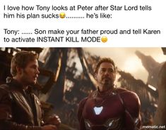 I feel like Tony and Peter are gonna have a closer relationship in infinity war