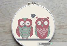 A cute pattern this owls on twig. The pattern comes as a PDF file that youll will be able to download immediately after purchase. In addition the PDF