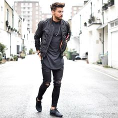 all black look trend trendy top fashion design beauty. Mbarek Beldjilali ·  Streetwear