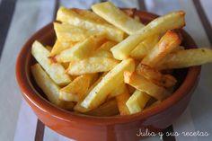 patatas, patatas fritas sin grasa, patatas al horno, Julia y sus recetas