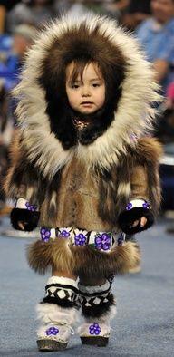 Inupiat girl at World Eskimo-Indian Olympics (WEIO) 2012 in Fairbanks