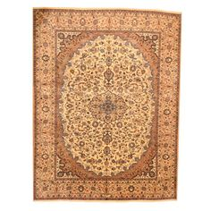 Herat Oriental Persian Hand-knotted Mashad Ivory/ Rug