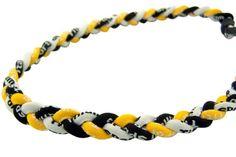 "SALE 20/"" 3 Rope Twist Titanium Sport Necklace Green Gold Irish ND Tornado NEW"