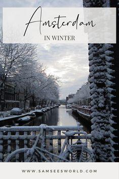 #Winter #Travel #Amsterdam #Europe #Pretty Amsterdam Itinerary, Amsterdam City Guide, Amsterdam Travel, Amsterdam Winter, Travel Tips, Europe, Beach, Water, Outdoor