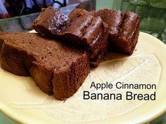 Apple Cinnamon Banana Bread 1 cup cashew butter 2 free-range eggs 2 ripe organic bananas 2 small apples or 1 larger apple (we used organic royal gala) 2 tsp cinnamon 1 tsp vanilla bean powder (or vanilla extract) 1/2 tsp baking soda pinch of salt