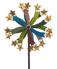 Swirling Star Kinetic Garden Stake