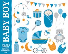 ❤ More #Baby Boy #Clipart can be found here: http://etsy.me/2oifyjR  Digital Baby Boy Clip Art - Boy, Navy, Baby, Stroller, Bunting, Baby Shower, Baby Born Clip Art. Commerci... #thecreativemill #clipart #digital #vector #baby