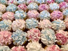 Pastel Hydrangea Cupcakes