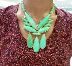 Irene Neuwirth Jewelry.   Mint Chrysoprase with Rose Cut Diamonds necklace set in Yellow Gold.  Gorgeous gorgeous stones!!!
