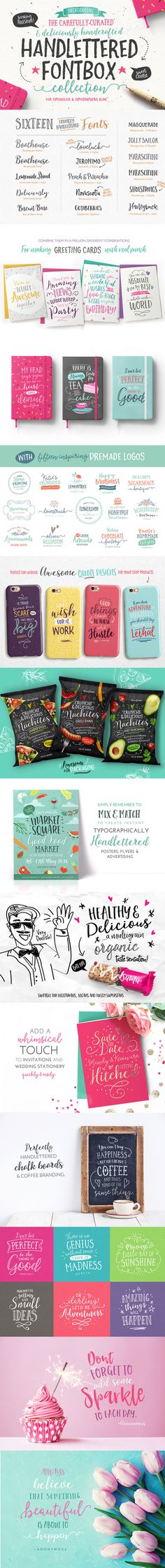 The #Handlettered Fontbox : $225 worth of #fonts packed tightly into a Sweeet $20 Pack - for a limited time!
