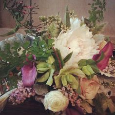 tangled love... plum, champagne, celedon and white's flowers by les fleurs