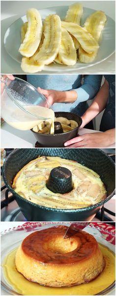 PUDIM DE BANANA - fácil e delicioso! #pudimdebanana #pudim #pudins #sobremesa #sobremesas #doce #doces